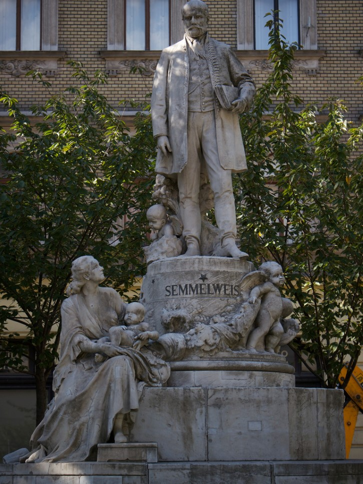 estatua a Ignaz Semmelweis en Budapest, Hungría