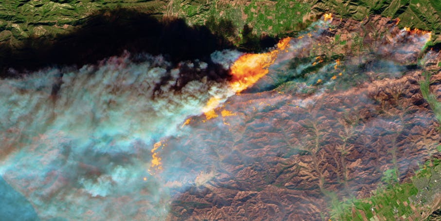 imagenes satelitales incendios california 2017 (1)