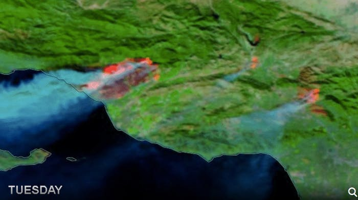 imagenes satelitales incendios california 2017 (2)