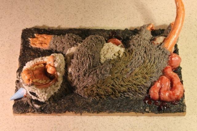 pasteles animal muerto