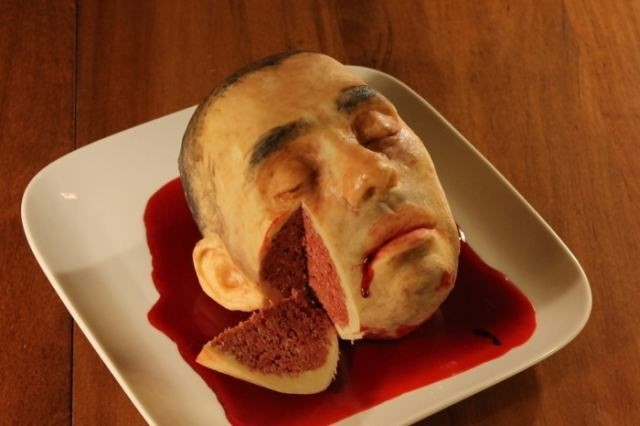 pasteles cabeza cortada