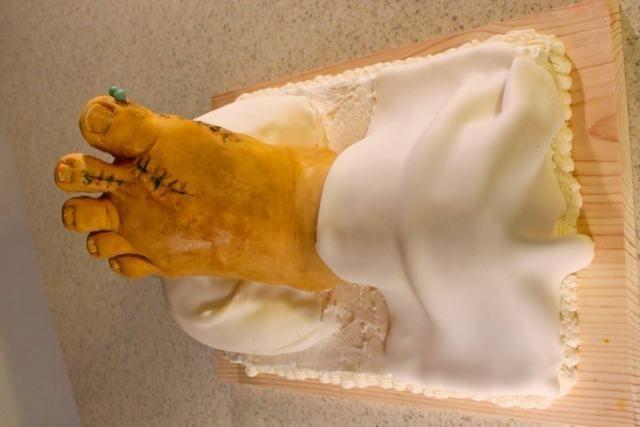 pasteles forma de pie