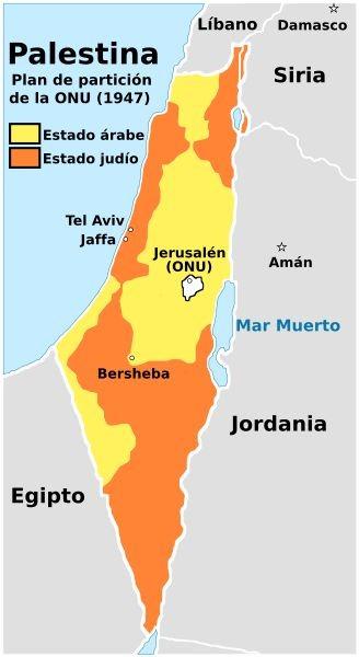 plan de particion para palestina onu 1947