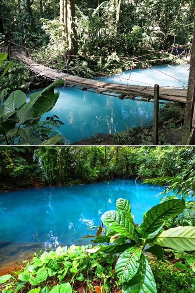 río azul turquesa en costa rica