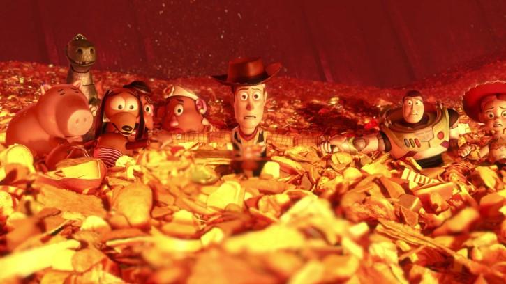 toy story 3 escena fuego