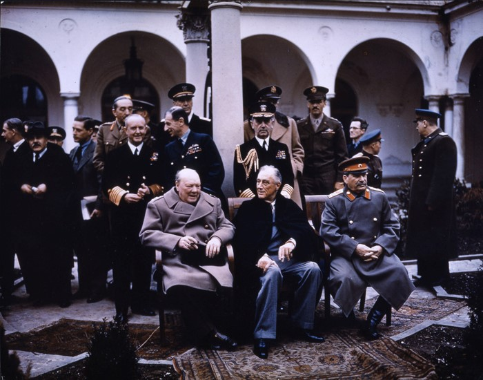 Stalin, Winston Churchill y Franklin D. Roosevelt
