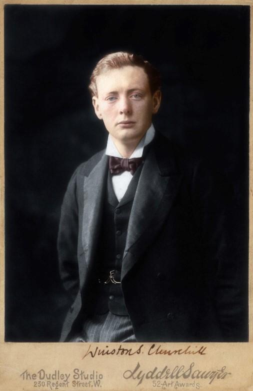 Winston Churchill durante su juventud