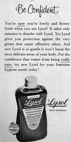 be confident publicidad lysol