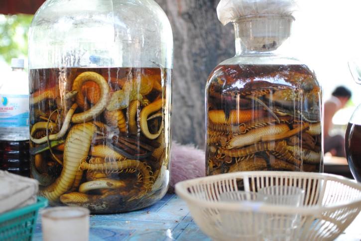 Botellas Grandes De Vino De Serpiente