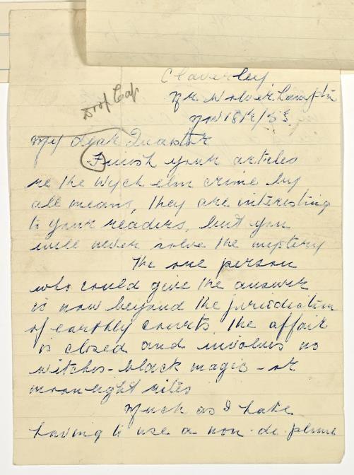 carta de anna claverley