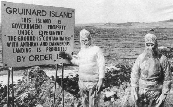 cartel en la isla de Gruinard