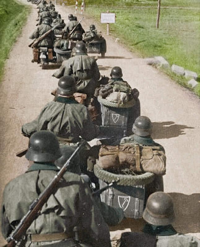 division nazi de motociclistas