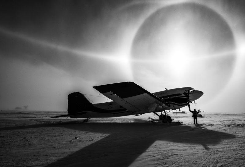 Fotografia Avioneta En La Antartida