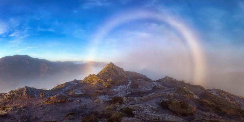 montaña misteriosa halo