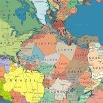 Mapa muestra ubicación de países actuales si existiera Pangea