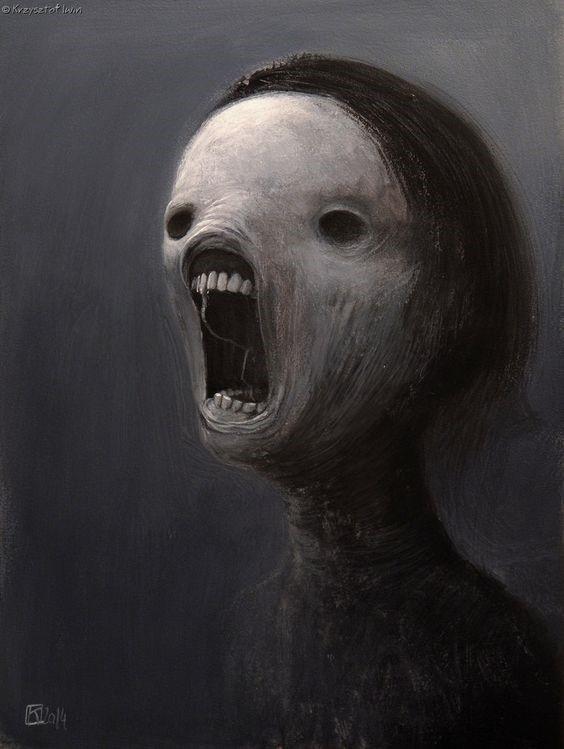 Terror Monstruo Ojos Negros