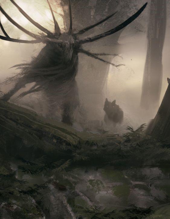 Alce en el bosque