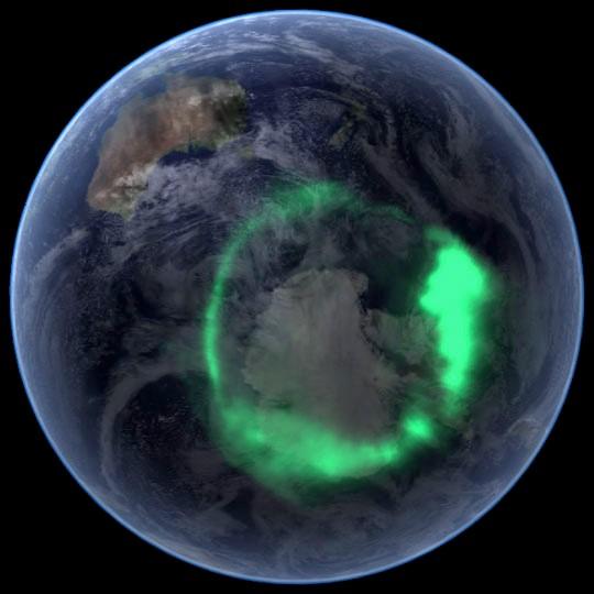 Auroras boreales tierra