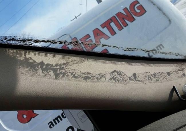 cadena montañosa polvo parabrisas
