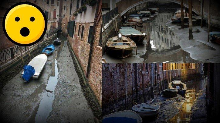Canales de venecia se secaron