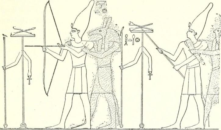 Dibujo dios egipcio seth