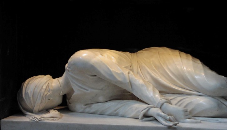 Escultura de santa cecilia martir