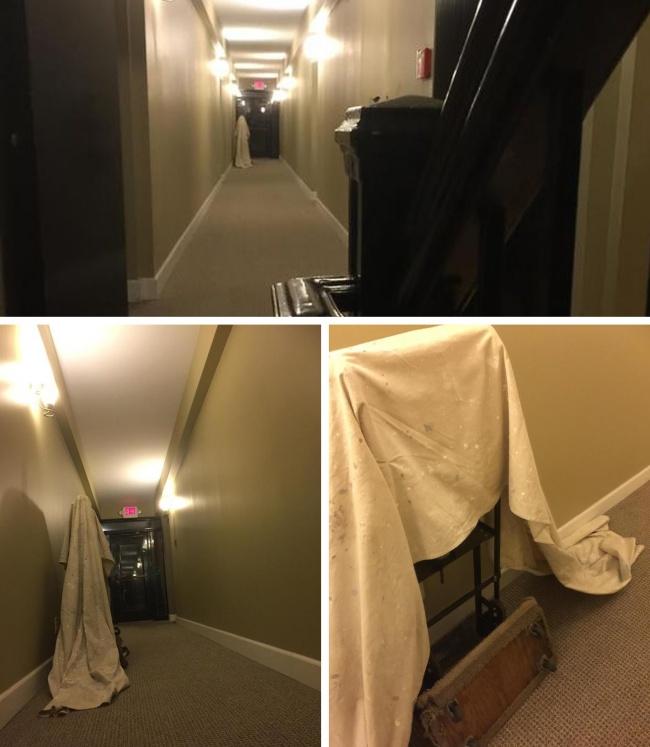 fantasma en el pasillo