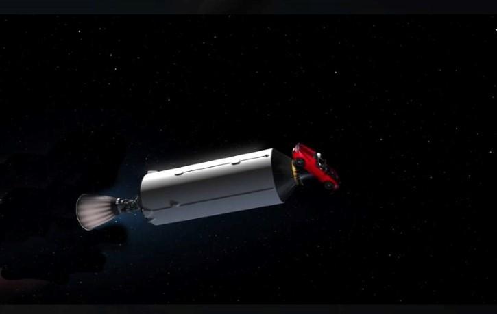 Fase del falco heavy lanzada al espacio
