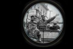 Fidel castro en caravana