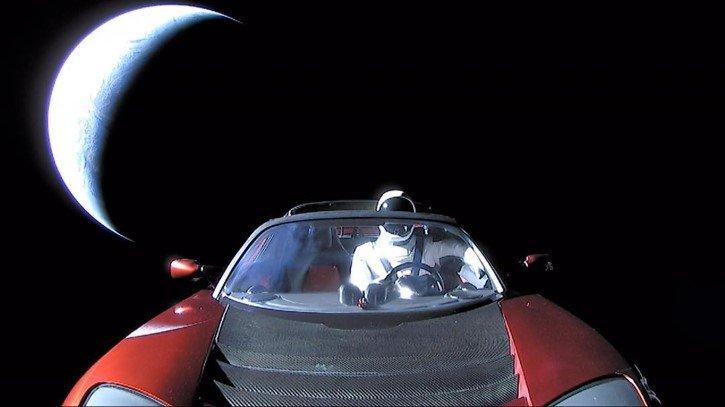 La ultima foto del tesla roadster