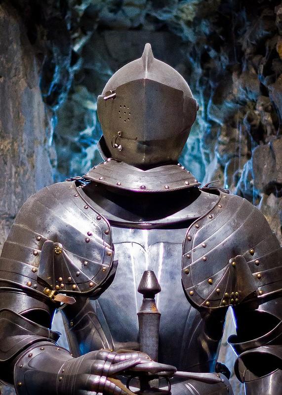 Parte superior armadura caballero