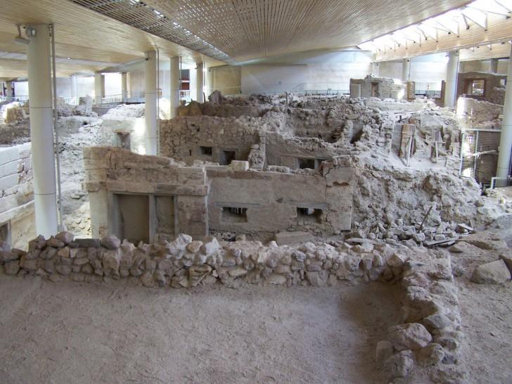 Acrotiri excavaciones en santorini