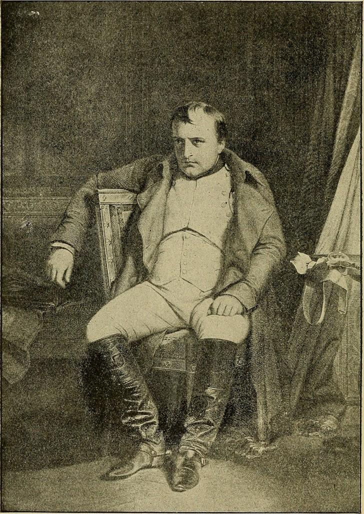 Napoleon sentado en la silla