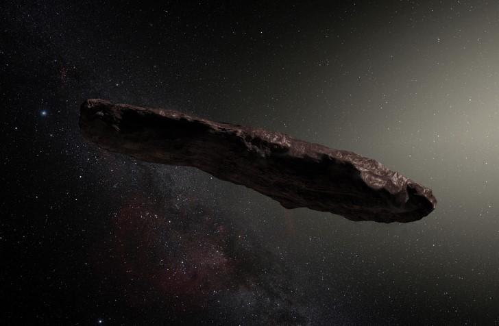 Oumuamua representacion