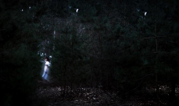 Fantasma en el medio del bosque
