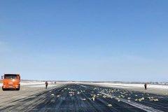Lingotes de oros en la pista de aterrizaje