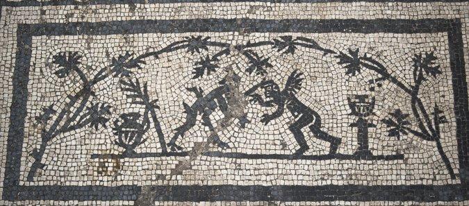 Mosaico palacio roma siglo ii