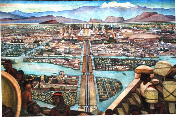 Tenochtitaln en el lago de texcoco