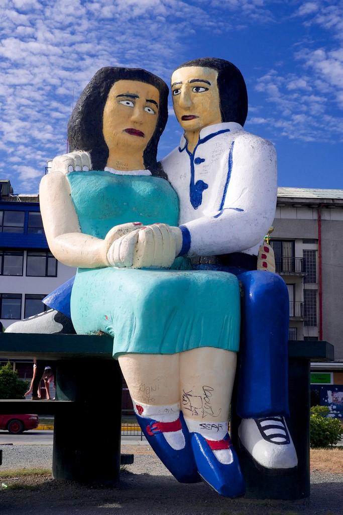 Puerto montt escultura amantes