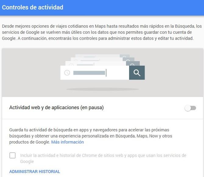 Actividad en web y apps
