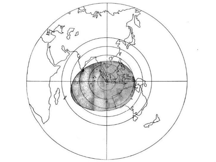 Area donde la erupción del krakatoa pudo escucharse