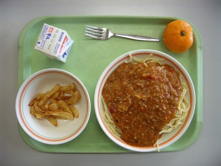 Desayuno escolar en japon