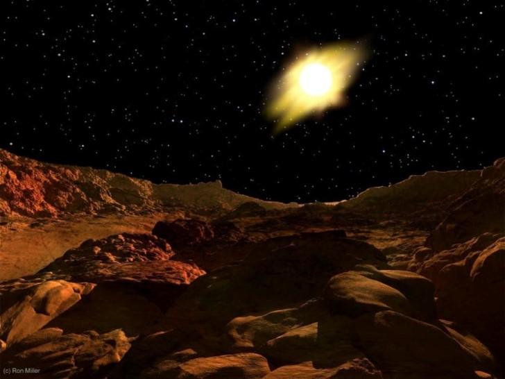 El sol visto desde mercurio
