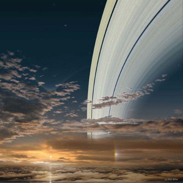 El sol visto desde saturno