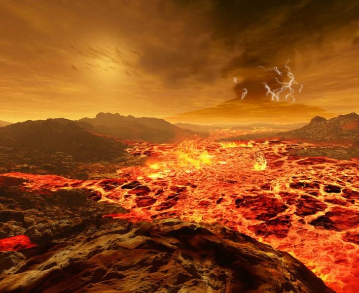 El sol visto desde venus