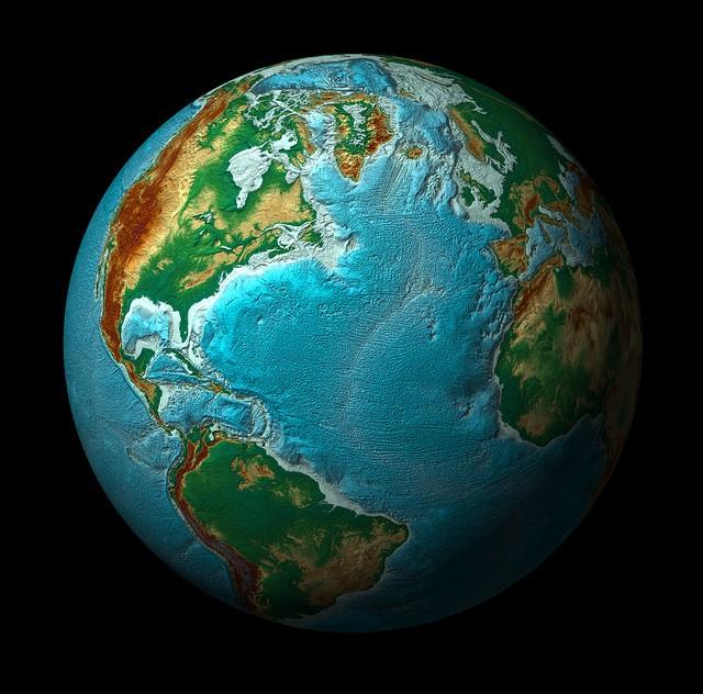 Elevaciones del planeta tierra
