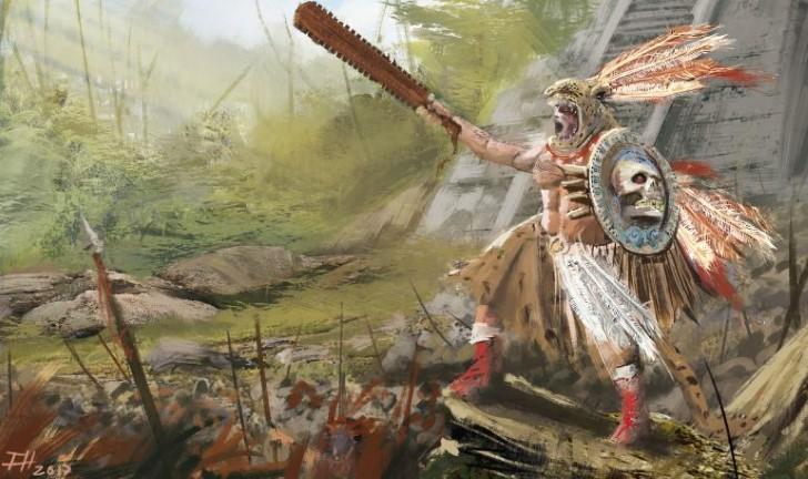Guerrero azteca muerte
