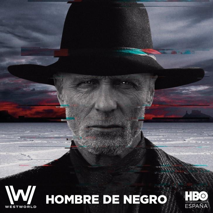 Hombre de negro westworld