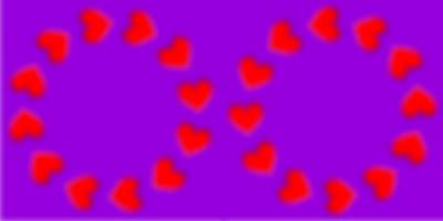 Ilusion optica corazones
