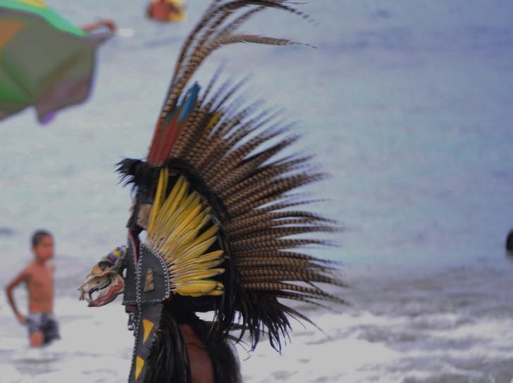 Mascara de un guerrero azteca
